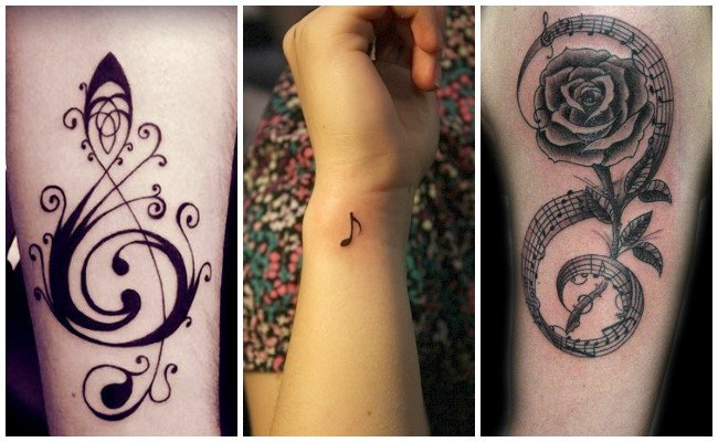 Significado de tatuajes de notas musicales
