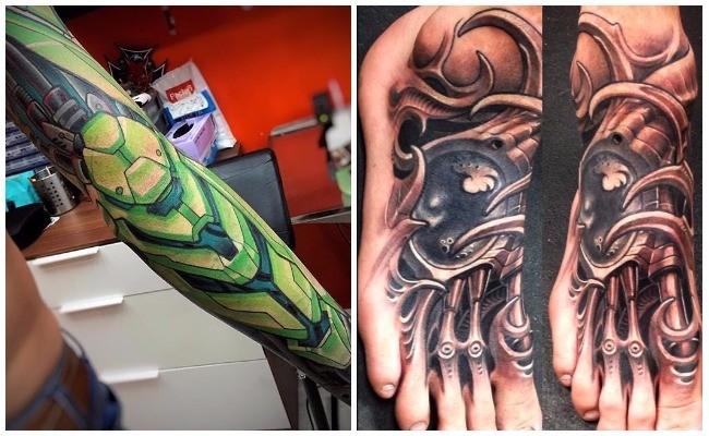 Tattoo biomecánico en 3d