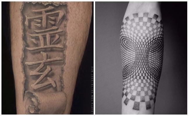 Tatuaje 3d de una araña