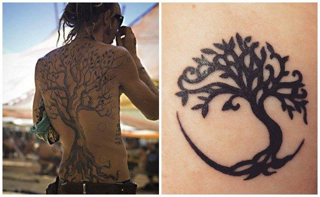 Tatuaje árbol de la vida celta