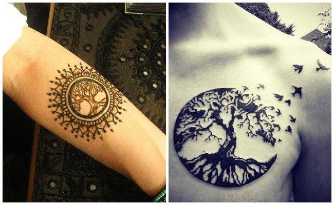 Tatuaje árbol de la vida para hombre