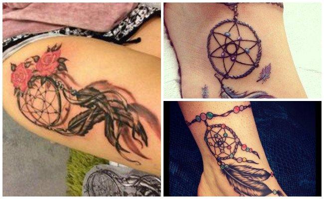 Tatuaje de atrapasueños en el brazo