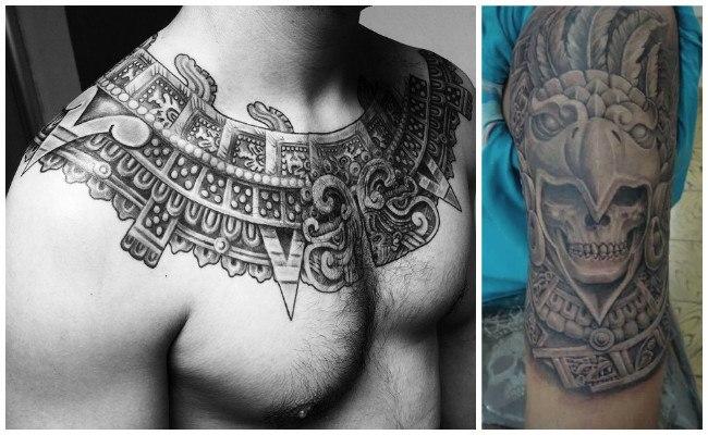 Tatuaje azteca a color