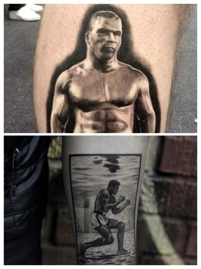 Tatuaje de boxeador old school