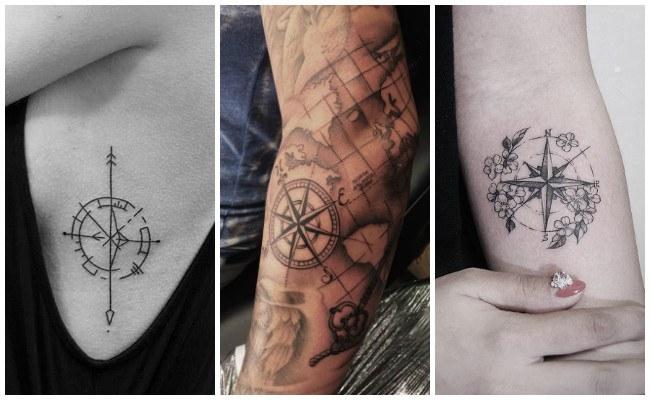 Tatuajes de brújulas para hombres