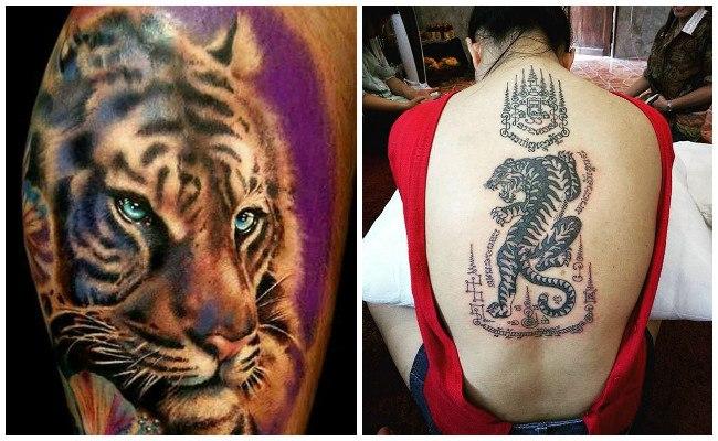 Tatuaje cara de tigre