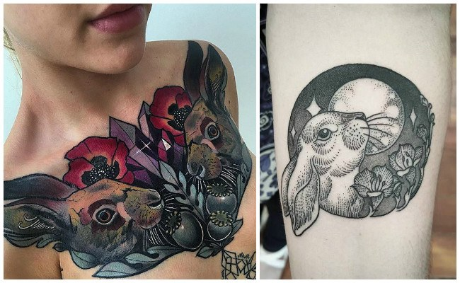 Tatuaje de conejo para hombre