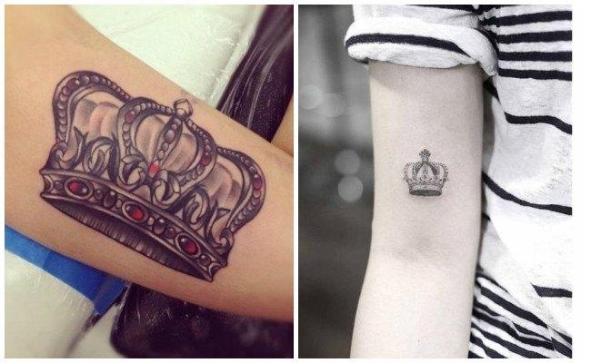 Tatuaje de corona de Rey