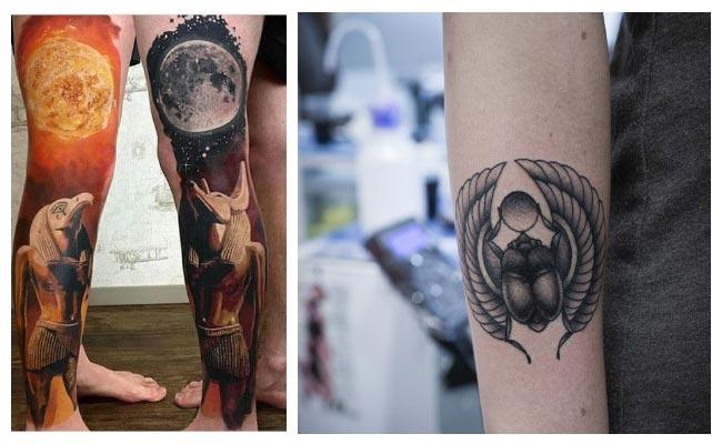 tatuaje escarabajo egipcio