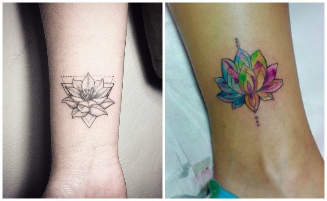 Tatuajes de flor de loto diseños