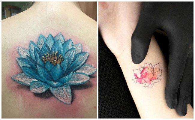 Tatuaje flor de loto en el pecho