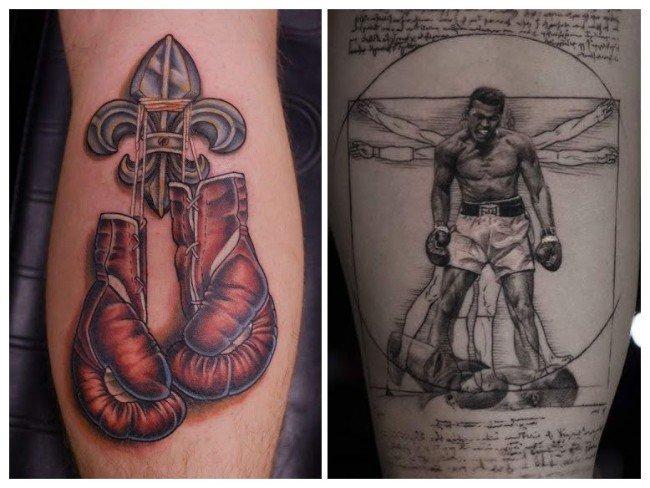 Tatuaje de guantes de boxeo