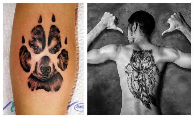 Tatuaje de huella de lobo