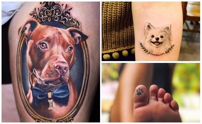 Tatuaje de huella de perro
