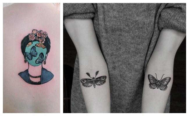 Tatuaje de mariposas en el antebrazo