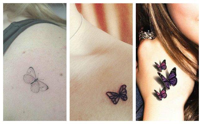 Tatuaje de mariposas blancas