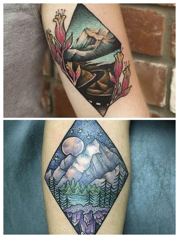 Tatuajes de montaña en el brazo
