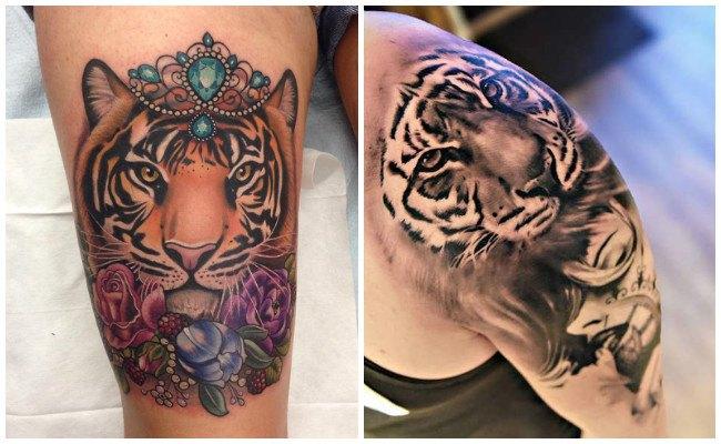 Tatuaje de piel de tigre