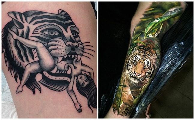 Tatuaje de tigre japonés