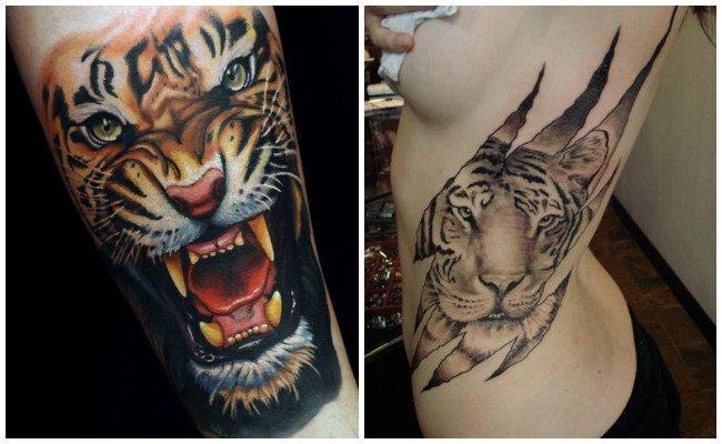 Tatuaje de tigre tribal