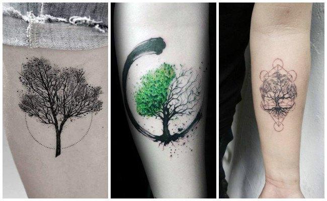 Tatuaje de un árbol de la vida