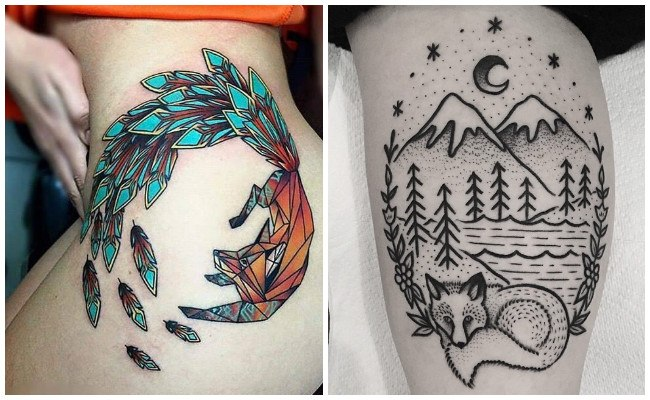 Tatuaje de zorro japonés