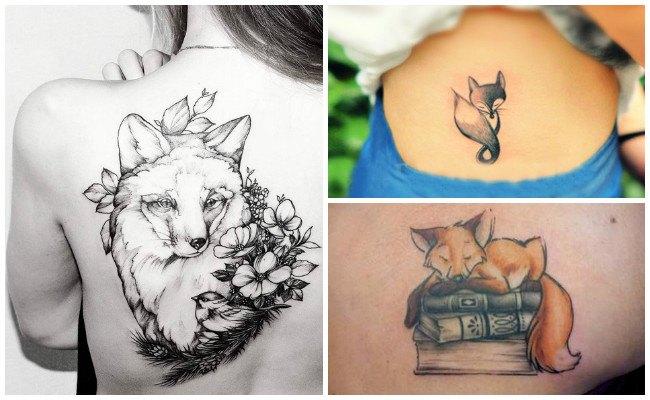 Tatuaje de zorro para mujer