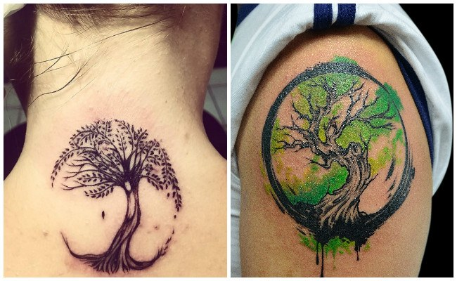 Tatuajes de árbol de la vida en tribal