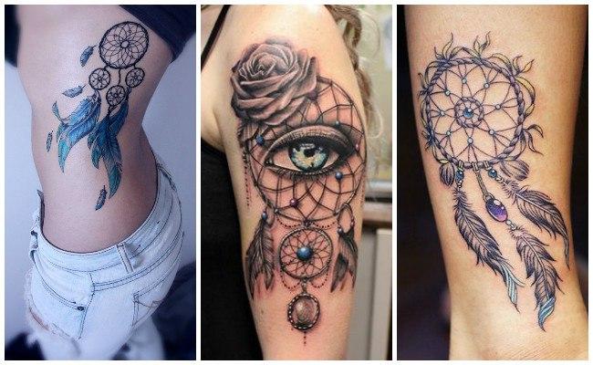Tatuajes de atrapasueños en el brazo para hombre