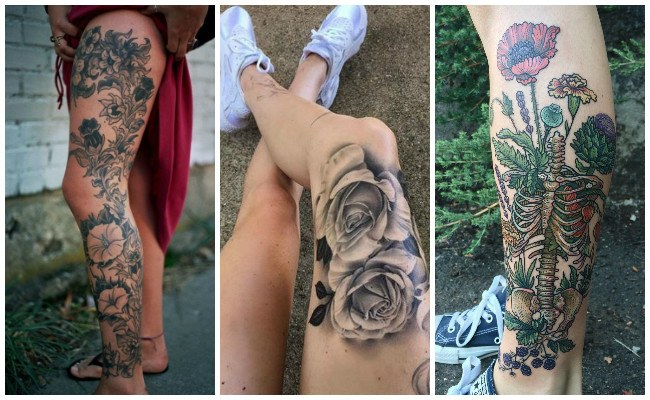 Tatuajes de atrapasueños en la pierna