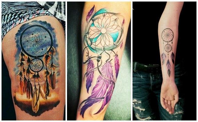 Tatuajes de atrapasueños para mujer