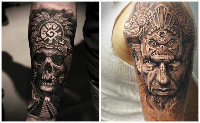 Tatuajes aztecas en el brazo