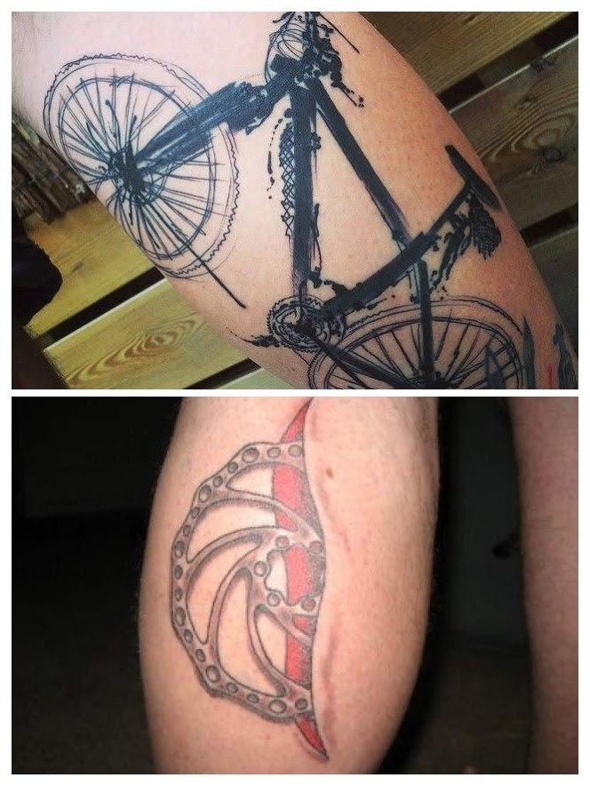 Tatuajes de bicicletas de montaña