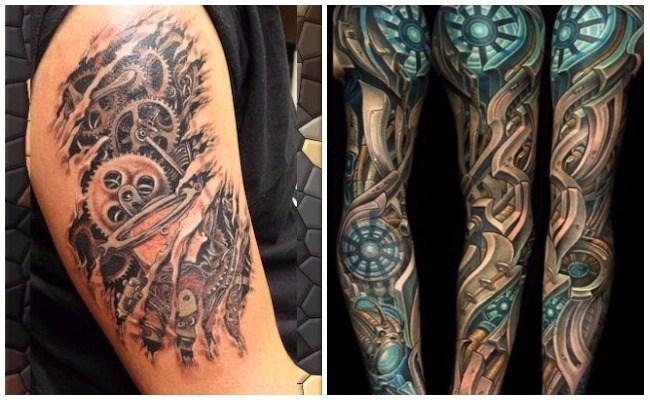 Tatuajes biomecánicos en el brazo