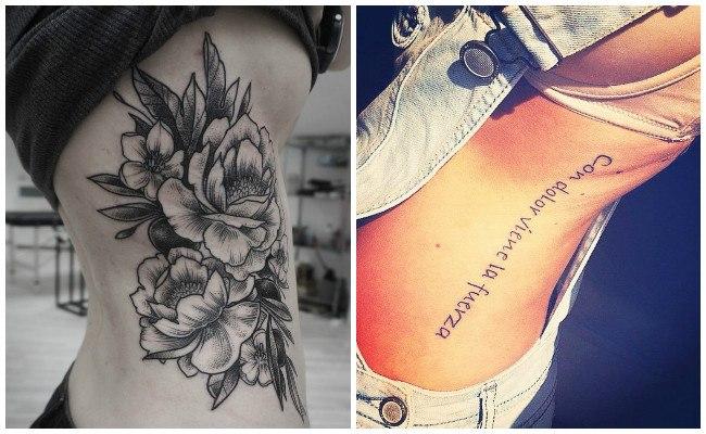 Tatuajes biomecánicos en las costillas