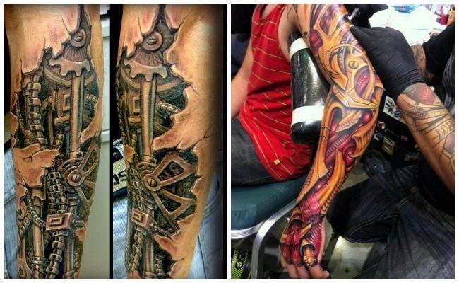 Tatuajes biomecánicos para mujeres