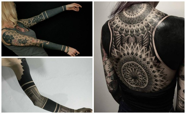 Tatuajes blackout y diseños