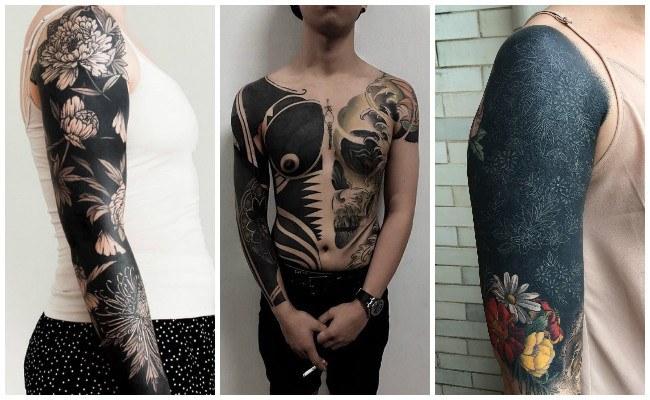 Tatuajes en el brazo negro