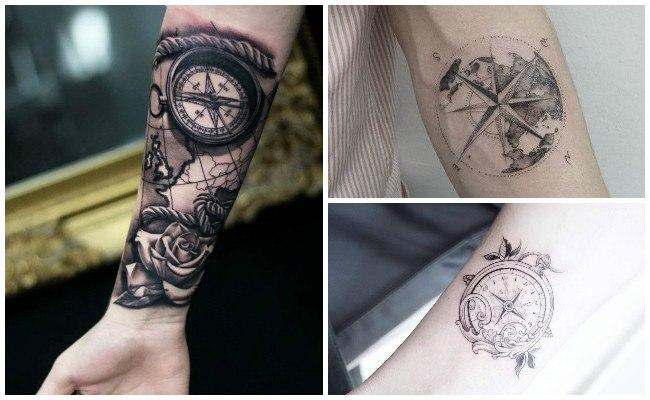 Tatuajes brújulas para hombres