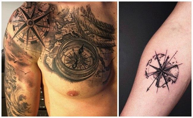 Tatuajes de brújulas pequeñas