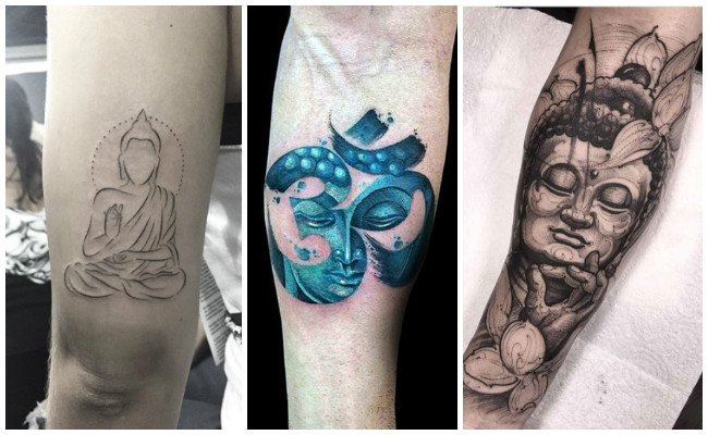Tatuajes de buda en la pierna