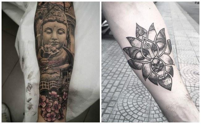 Tatuajes de budistas para mujeres