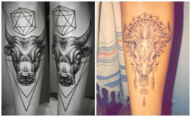 Tatuajes de cabezas de toros