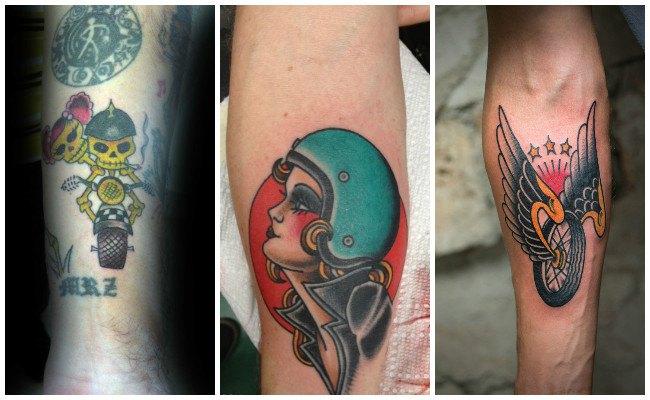 Tatuajes de cadenas de motos