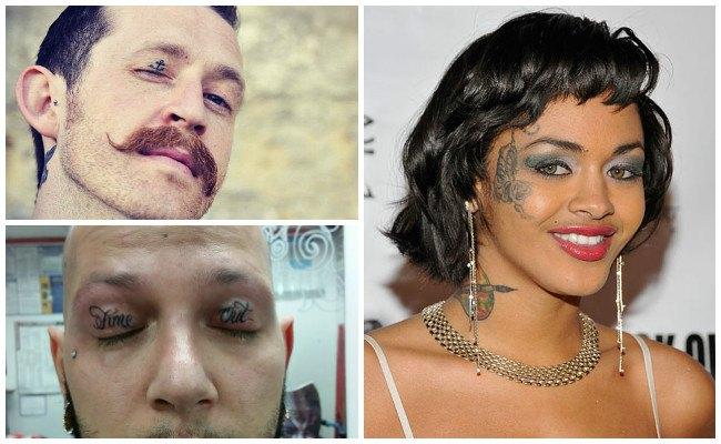 Tatuajes en la cara para mujeres