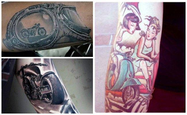 Tatuajes de cascos de motos