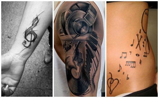 Tatuajes de clave de sol en la muñeca