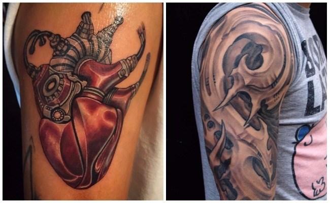 Tatuajes con amortiguadores mecanicos