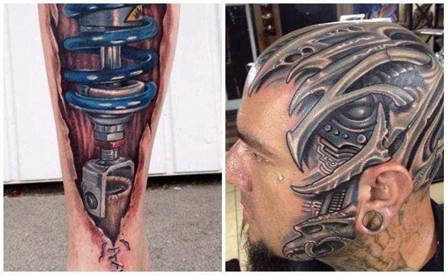 Tatuajes con engranajes