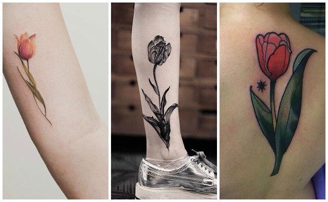 Tatuajes con tulipanes